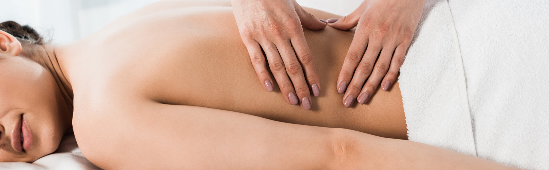 woman getting spa massage