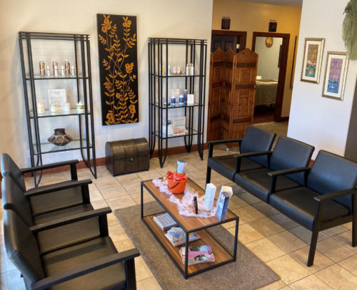 Columbine Massage & Day Spa Reception Area
